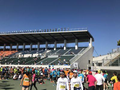 瑞穂市スタッフブログマラソン大会会場の様子