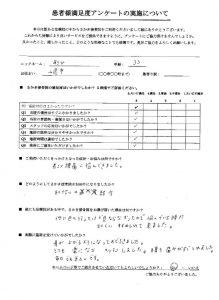 山県市30代女性の肩こり、腰痛治療の口コミ